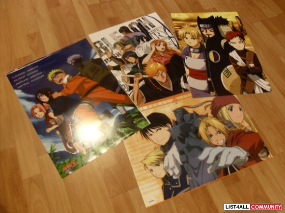 Anime Posters (LOT of 4)