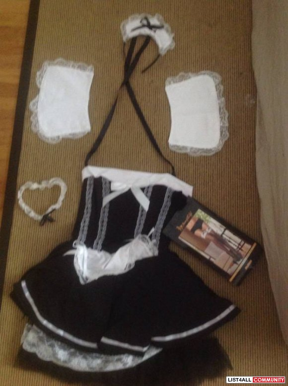 NEW French Maid costume [includes lots of things] fits s-m