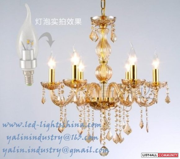 E14 LED candle lamp, decorative candle bulb light for chandelier